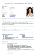 Voorbeeld cv Marketing Manager Mars
